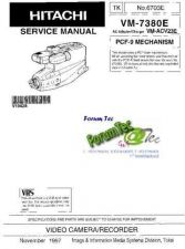 Buy Hitachi VM-7380E NO 6703E Manual by download Mauritron #184641