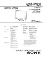 Buy SONY GDM-FW900 Service Manual by download #166891