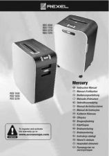 Buy Rexel Mercury Shredder Owners User Instructions Operating Guide by download Mau