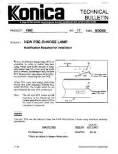 Buy Konica 17 NEW PRE CHARGE LAMP Service Schematics by download #136013