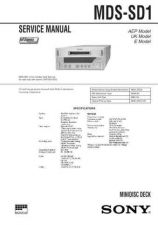 Buy SONY MDSSD1 11 Service Manual by download #167066