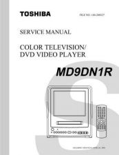 Buy TOSHIBA MD9DN1R SVCMAN Service Schematics by download #160205