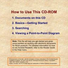 Buy Savin RICOH CD HELP Service Schematics by download #157469
