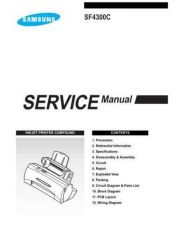 Buy Samsung SF 4300C XEU41502D101 Manual by download #165440