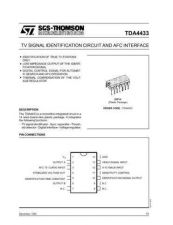 Buy MODEL TDA4433 Service Information by download #124715
