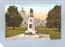 Buy CAN Victoria Postcard Soldiers Monument & Parliament Buildings can_box1~258