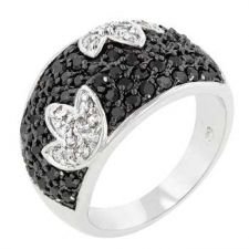 Buy Black And White Cocktail Ring (size: 08)