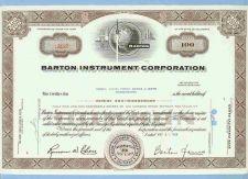 Buy CA na Stock Certificate Company: Barton Instument Corporation ~8