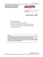 Buy Sanyo VB8B Training Manual(CTV) Manual by download #177322