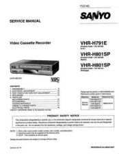 Buy Sanyo Service Manual For VHR-H791E Manual by download #176216