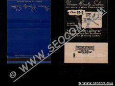 Buy CT New Britain Matchcover Vernan Beauty Salon Gates Bldg 272 Main St Phone~1650