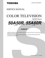 Buy TOSHIBA 50A50R 55A60R TECH INFO by download #132125