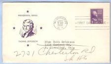 Buy DC Washington First Day Cover / Commemorative Cover Thomas Jefferson~37