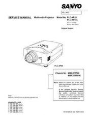 Buy Sanyo PLCXP10NA Manual by download #174905