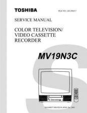 Buy TOSHIBA MV19N3C SVCMAN Service Schematics by download #160268