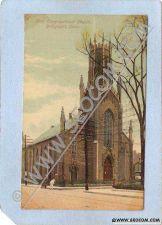 Buy CT Bridgeport First Congregational Church Street Scene w/Trolley Tracks ct~235