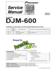 Buy PIONEER DJM-600 Service Manual by download Mauritron #193589