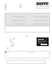 Buy Sanyo Service Manual For PLV-80-01 Manual by download #176006