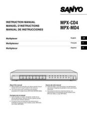 Buy Sanyo MPX-CD4P Supplement Manual by download #174618