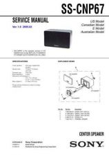 Buy SONY SS-CNP67 Service Manual by download #167188