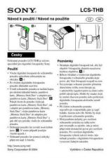 Buy SONY LCS-THB CZ-SCREEN OPERATING GUIDE by download #167050