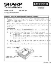 Buy Sharp FAX144 Technical Bulletin by download #138893