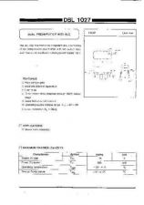 Buy INTEGRATED CIRCUIT DATA DBL1027J Manual by download Mauritron #186776