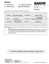 Buy Sanyo PLC-SU20N Manual by download #174785