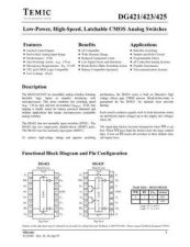 Buy INTEGRATED CIRCUIT DATA DG421 5J Manual by download Mauritron #186805