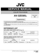 Buy JVC AV-32D305 TECHNICAL DATA by download #130562