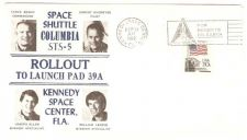 Buy FL Kennedy Space Center First Day Cover / Commemorative Cover Space Shuttl~7