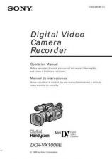 Buy SONY VX1000E PAL OPERATING GUIDE by download #167262