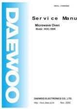 Buy DAEWOO SM KOC-1B0K (E) Service Data by download #146848