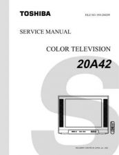 Buy TOSHIBA 20A42 SVCMAN ON by download #129121