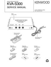 Buy KENWOOD KVA-S300 Service Data by download #132746