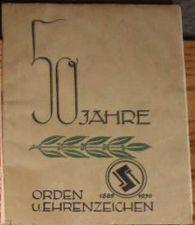 Buy GER German WWII 1939 50 Jahre Orden U. Ehrenzeichen 1889-1939 20 pages~4