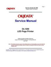 Buy OKIDATA OL 1200 SERVICE MANUAL by download #152332