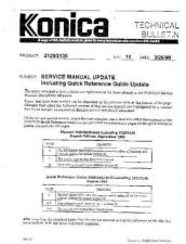 Buy Konica 14 SERVICE MANUAL UPDATE Service Schematics by download #135994