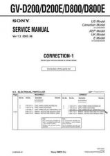 Buy SONY GV-D200 Service Manual by download #166906