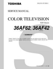 Buy TOSHIBA 36AF42 36AF62 SUMMARY Service Schematics by download #159939