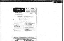 Buy Hitachi 32CX11B foldouts only Service Information by download #163255