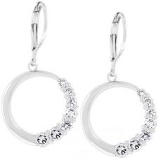 Buy Graduated Cubic Zirconia Circle Earrings