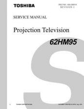 Buy TOSHIBA 62HM95 SVM REV2 Service Schematics by download #160073