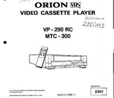 Buy ORION VP-290RC MTC-300 NECKERMANN 235 113 Service Manual by download Mauritron