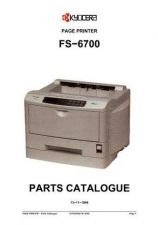 Buy KYOCERA FS-6700 PARTS MANUAL by download #148440