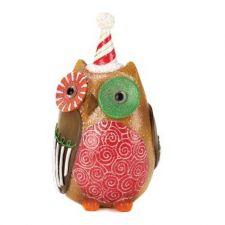 Buy Candy Cane Hat Owl Decor