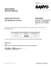 Buy Sanyo Service Manual For DC-X140-01 Manual by download #175660