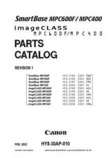 Buy CANON SMARTBASE MPC400, 600 PARTS MANUAL by download #150204