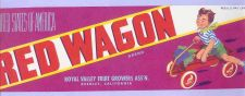 Buy CA Reedley Fruit Crate Label Red Wagon Brand Royal Valley Fruit Growers As~28