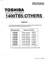Buy Toshiba 2100RBG SUP 2 Manual by download #171558
